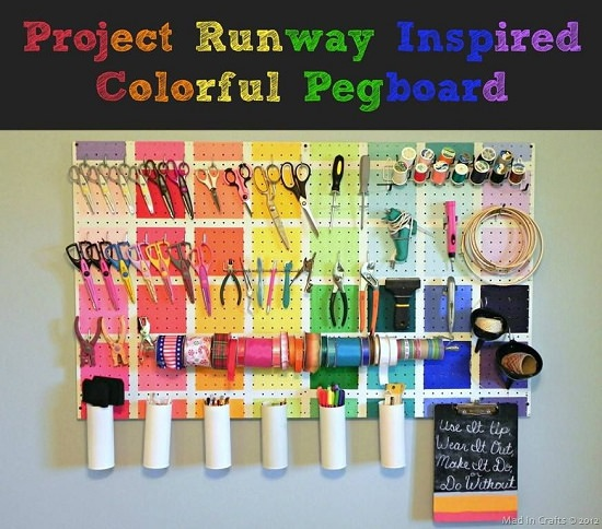 Runway Theme Pegboard Idea
