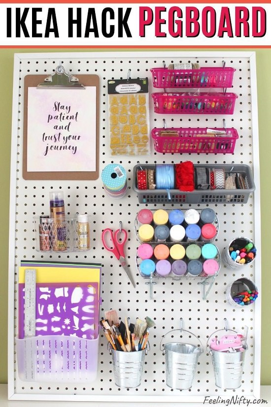 Pegboard Ideas for Craft Room3