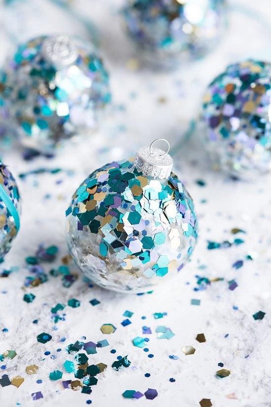 DIY Glitter Ornament Ideas3