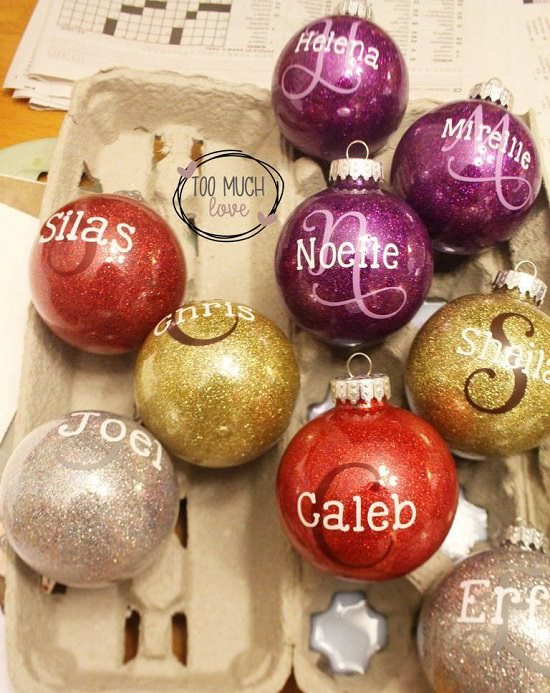 Ornaments with Names