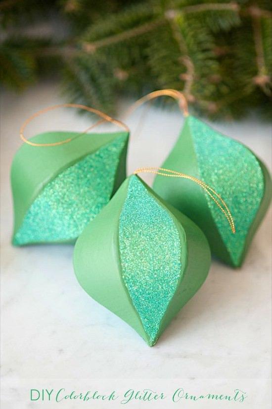Color Block Christmas Ornaments