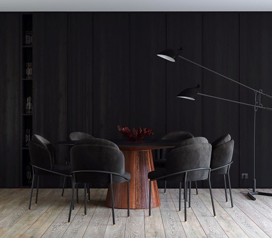 Round Table Dark Room Decor