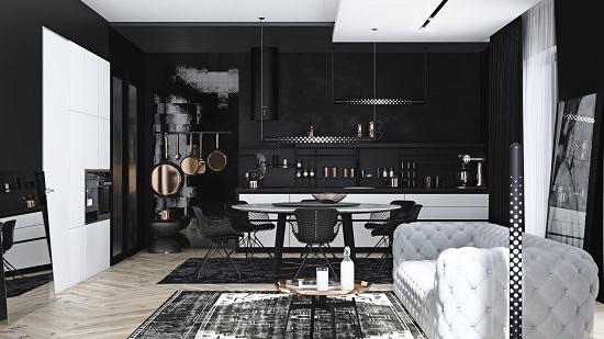 Dark Classy Decor for Dining Room