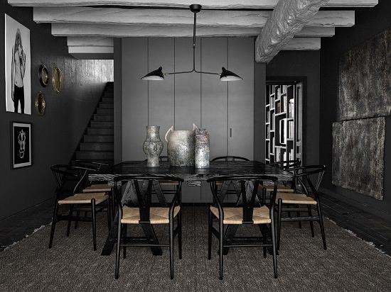 Black Dining Room Decorating Ideas7