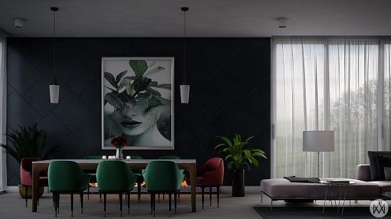Black Dining Room Decorating Ideas5