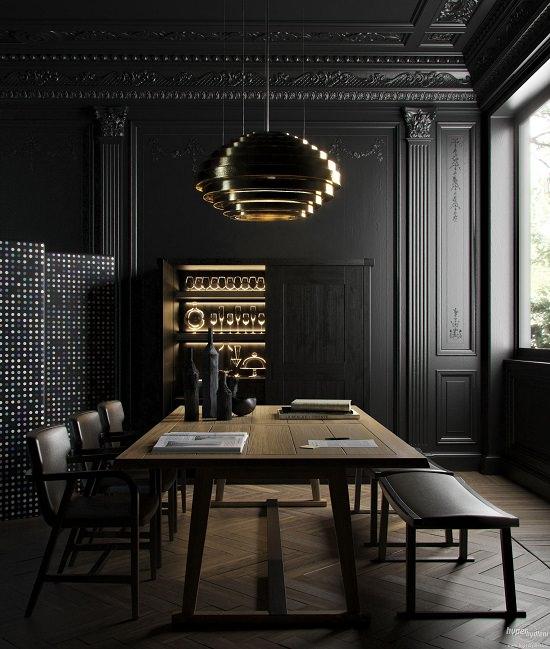 Black Dining Room Decorating Ideas1