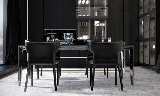 Black Dining Room Decorating Ideas2