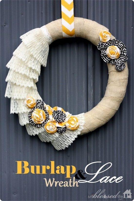 Burlap Lace Wreath