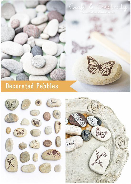 Lace Patterned Pebbles