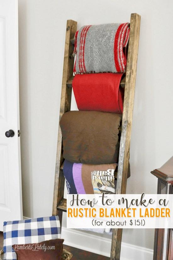 DIY Blanket Ladder Ideas3