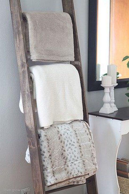 Repurposed Blanket Ladder