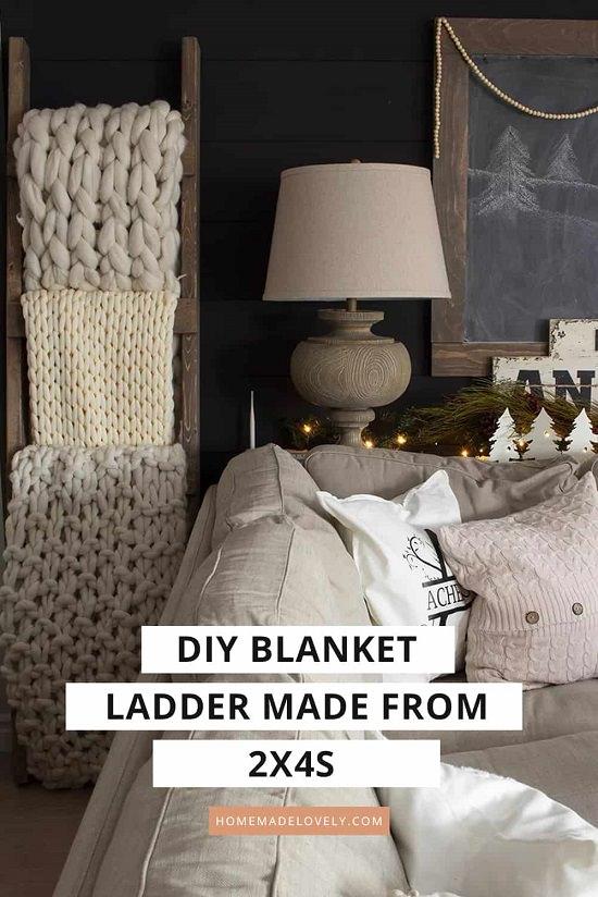 Vintage Blanket Ladder
