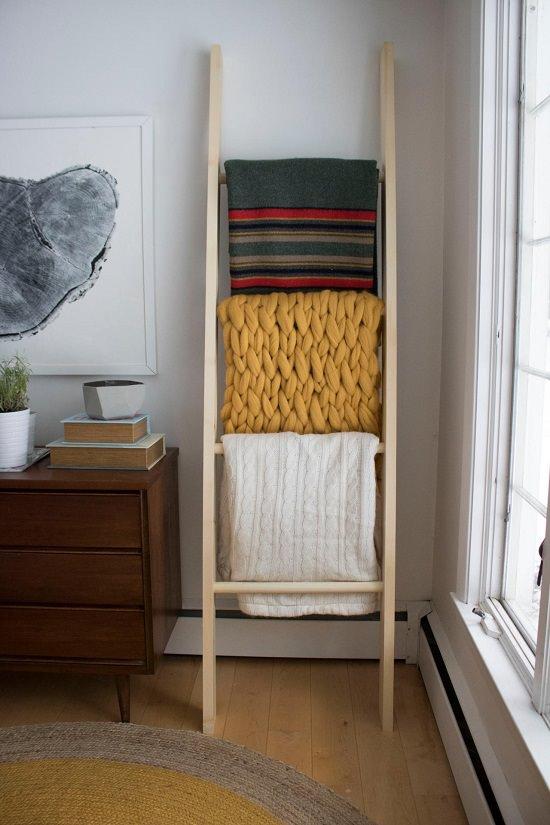 DIY Blanket Ladder Ideas1